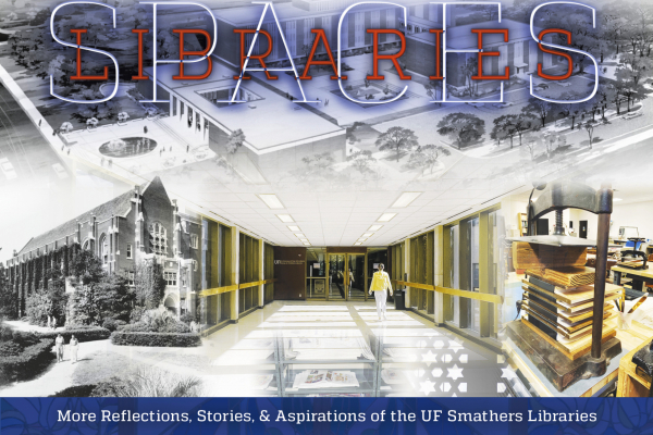 Source Magazine Cover for Fall 2021 showing library buildings and spaces