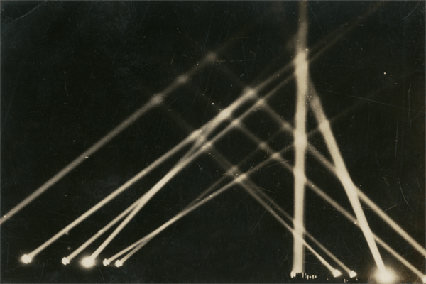 Photograph of Searchlights for the Exhibition Are We Next