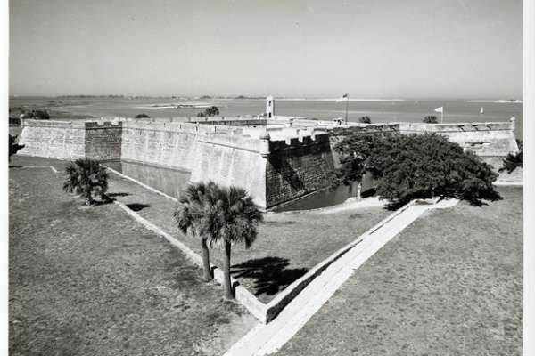 Castillo de San Marcos, facing Northeast, overlooking Matanzas Inlet