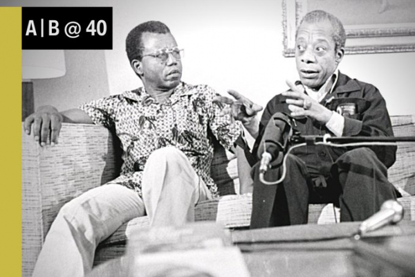Chinua Achebe and James Baldwin during their meeting in Gainesville, April 1980
