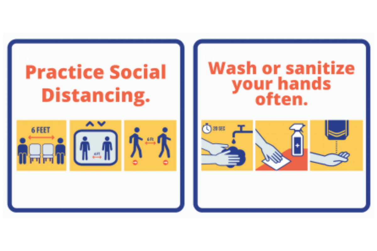 Please Practice Social Distancing and Wash Hands Often